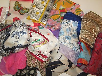 Blow-Out Lot of 200 Small Scarves -Vintage