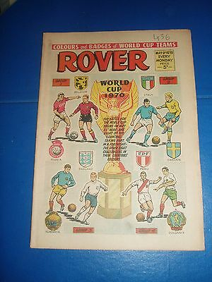 8 Colours And Badges Of World Cup Teams England Italy Peru In Rover Comic 1970
