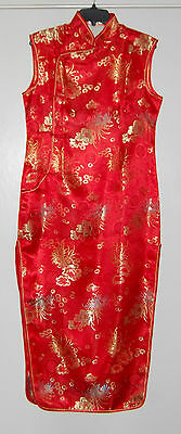 LAOGUDAI Traditional Cheong-sam Qipao Dress Red Silk Sz XXL