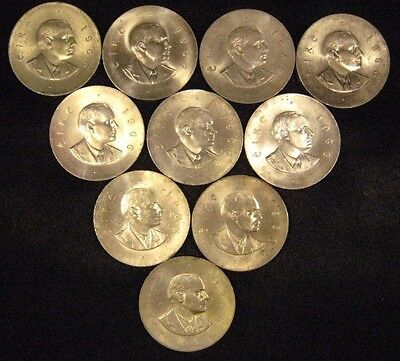 1966 Ireland Punt/10 Schilling Silver Lot of 10 Coins(C)** FREE U.S. SHIPPING **