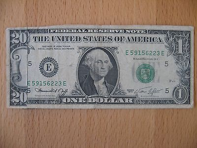 Federal Reserve Note - $1 to $20 Fraud bill - Series 1974