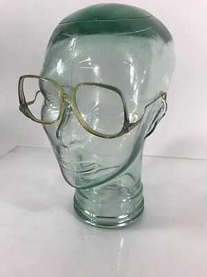 "True Vtg American Optical ""Park Avenue"" Sun/Eyeglass Frame Clear/Green"