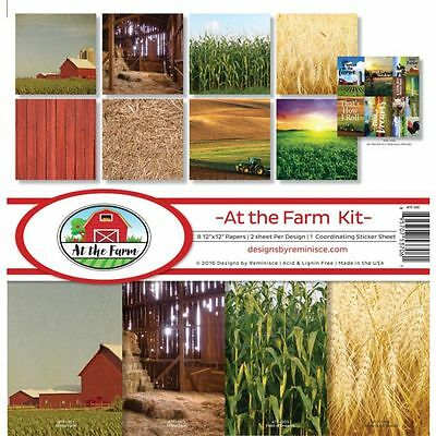 Reminisce At The Farm (1) 12X12 Scrapbooking Collection Pack Kit Barn Field