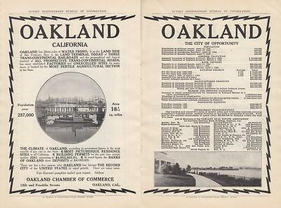 1908 Oakland CA Chamber of Commerce Ad 15 Miles of Water Front San Francisco Bay