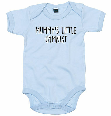Gymnist Body Suit Personalised Mummy's Little Baby Grow Newborn Gift