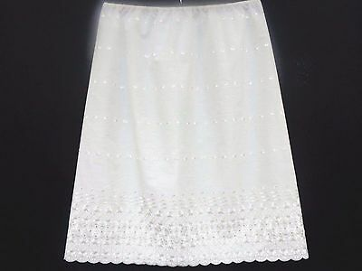 Plus Size Embroidered 100% Cotton  Underskirt, Waist Slip, Half Slip, Petticoat
