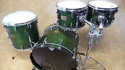 Pearl 4pc Masters Custom Drum Kit Shell Pack Emerald Mist