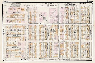 1912, Charles E. Goad, Canada, Vancouver Opera & Court Houses, Copy Atlas Map