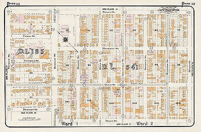 1912 Vancouver Canada Dawson School Nelson St To Drake St Charles Goad Atlas Map