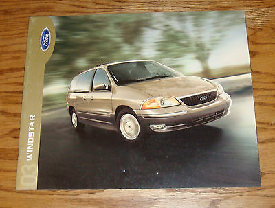Original 2003 Ford Windstar Sales Brochure 03 LX SE SEL Limited 2nd