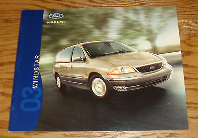 Original 2003 Ford Windstar Sales Brochure 03 LX SE SEL Limited