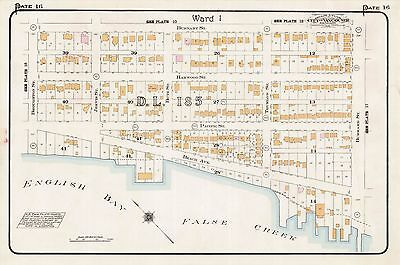 1912, Charles E. Goad, Vancouver, Canada, English Bay, Copy Plat Atlas Map