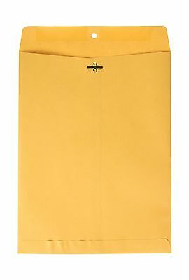 Top Flight Clasp Envelopes Gummed and Clasped Closure 10 x 13 Inches Brown Kr...