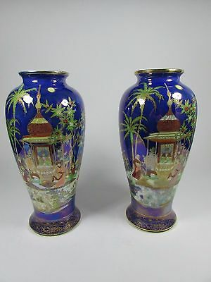 Pair of Early Large Carlton Ware Vases Persian Pattern 2884 c.1920