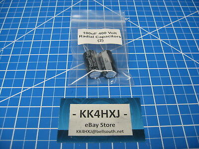 100uF 400V Radial Electrolytic Capacitors - lot of 2