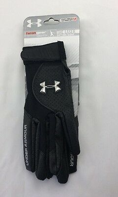 Under Armour Women's The Laser Batting Glove Softball Black Size Small NWT