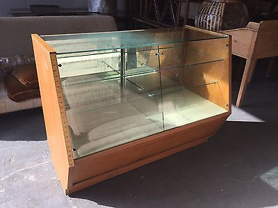 Vintage Retro 1960s 1970s Shop Fitting Display Counter