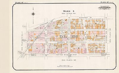 1912, Charles E. Goad, Vancouver, Canada, St. James Church, Copy Plat Atlas Map