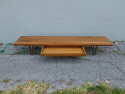 Mid Century Dunbar Edward Wormley Long John Bench With Lower Drawer