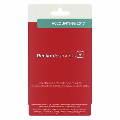 Reckon Accounts Accounting 2017 1 PC Card