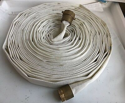 """New National Fire Hose 1.5"""" x 100ft Hose with Brass Fittings FM 100' 250PSI"""