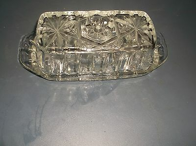 Vintage Clear Glass Butter Dish