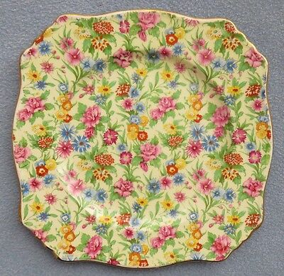 Royal Winton Kew Floral Chintz Square Salad Plate