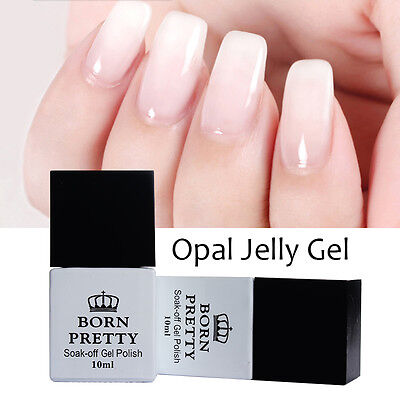 BORN PRETTY Nail Art UV Gel Polish Opal Jelly Gel White Soak Off Varnish 10ml