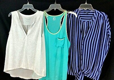 Lot of 3 Womens Tank Tops JCP Sz L Forever 21 Sz M American Eagle Sz Sm