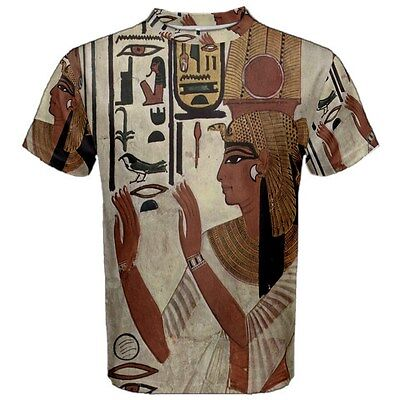 New Nefertari Ancient Egyptian Queen Sublimated Men's Sport Mesh Tee t shirt