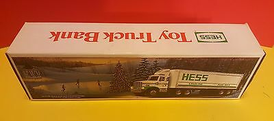 New In Original Box: 1987 Hess Toy Truck Bank With Barrels