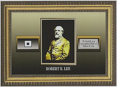 ROBERT E. LEE worn owned personal HAIR STRAND civil war DUST SPECK SIZED relic