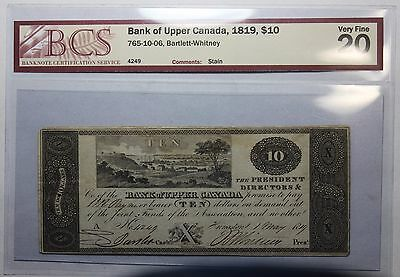 1819 $10 Bank of Upper Canada