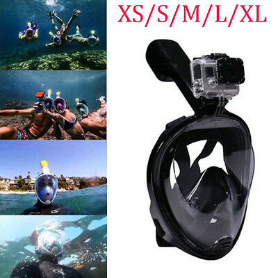 Swimming Full Face Mask Surface Diving Snorkel Scuba for GoPro XS/S/M/L/XL #WZ01