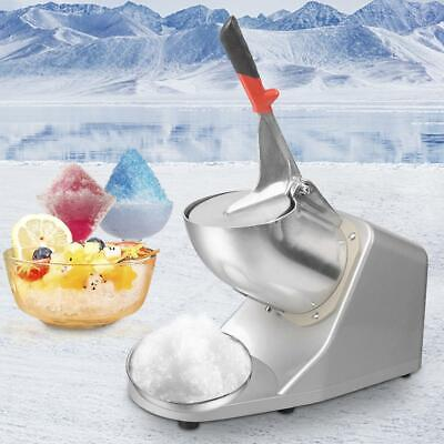 Electric Ice Crusher Shaver Machine Snow Cone Maker Shaved Ice 143 lbs 300W