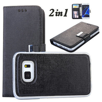 Detachable Magnet Leather Wallet Removable Flip Case Cover For Samsung Note 8 S9