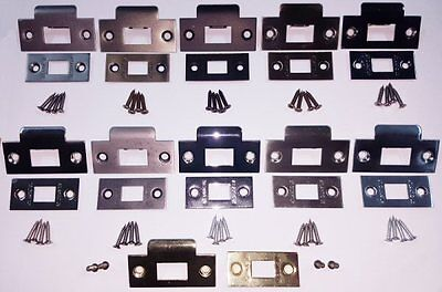 Tubular & Mortice Door Latches Face Plate & Latch Strike Keep Premium UK Quality