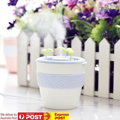USB DIY Potted Ultrasonic Humidifier WHITE Office Car Novelty Aroma Diffuser