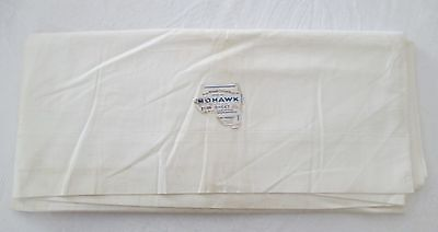 Antique MOHAWK Percale Full or Double Sheet Unused w/ Label Utica NY