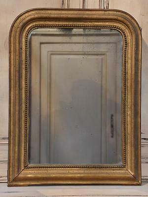 Petite 19th century Louis Philippe mirror gilt frame - antique French mirror