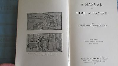 1911 Copy Of A Manual Of Fire Assaying-Miners Assay Equipment-Mines & Mining