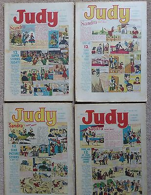 Vintage Judy Comics (4) Nos 368 to 371 February 1967