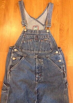 Old Navy Bib Overalls Jeans 8 Carpenter Button Fly Unisex Boys Girls Youth