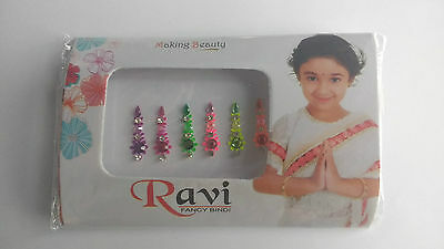 Neon UV Glow Bindis festival Rave Party Indian Mixed Rainbow Colours