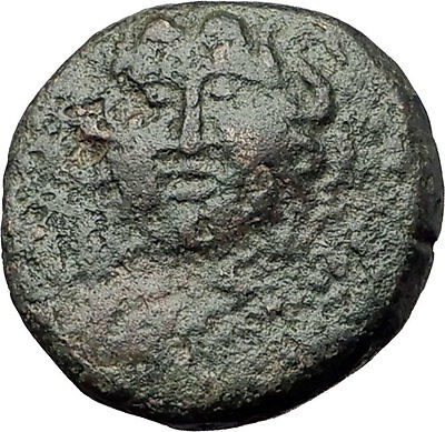 AMPHIPOLIS in MACEDONIA 100BC Gorgoneion Aegis Athena Ancient Greek Coin i60849