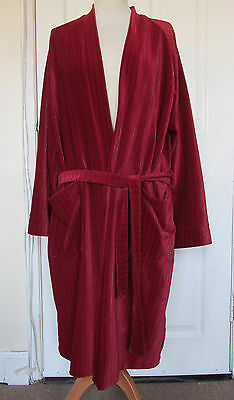 Vintage Sammy Men's Red Soft Tricel Velure Velvet Dressing Gown Robe 40-42""