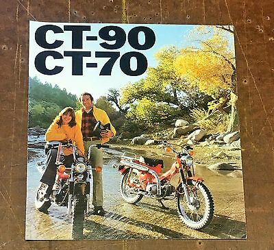Honda CT-90 CT-70 Ad Advertisement Pamphlet RARE 1976