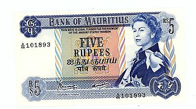 Mauritius ... P-30c ... 5 Rupees ... ND(1967) ... CH*UNC*