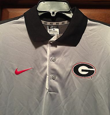 New Nike Georgia Bulldogs Men S Dri Fit Polo Shirt Sewn On Logo G