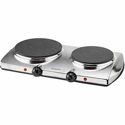 Brentwood TS-372 1,440W Electric Double Hot Plate W